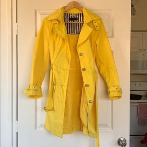 Steve Madden Yellow Trench Coat with Hood